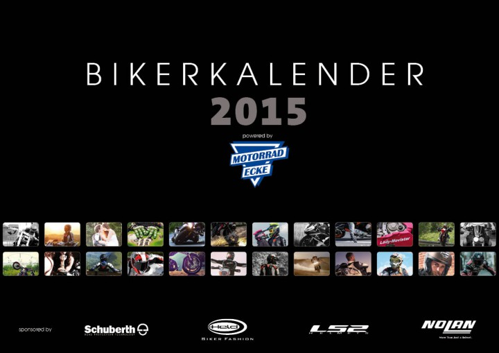 Bei motorradbekleidung.de kannst Du für Dich oder als Geschenk für einen Biker ab sofort einen Motorradkalender für 2015 bestellen.